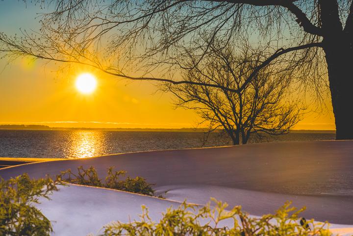 Sunrise after Blizzard Jonas 01232016 FB